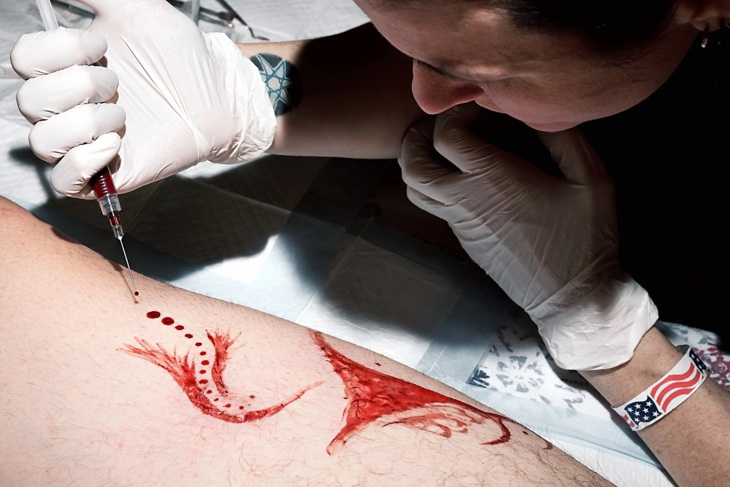 Blood Artist at Work